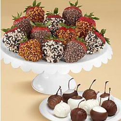 Chocolate Covered Cherries and Strawberries Gift Box