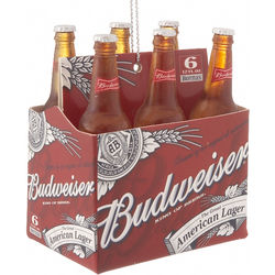 Budweiser 6-Pack Personalized Ornament
