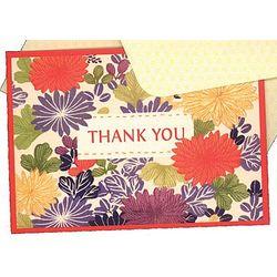 Kimono Pattern Thank You Notecards