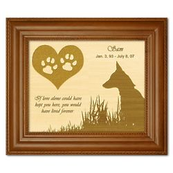 Wood Engraved Dog Memorial Plaque