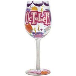 Happy October Wine Glass