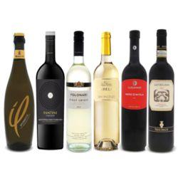 Taste of Italy 6 Wine Bottle Gift Set