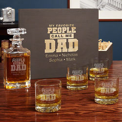Call Me Dad Personalized Carson Decanter and Glasses