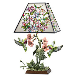 Garden of Light Stained Glass Hummingbird Lamp