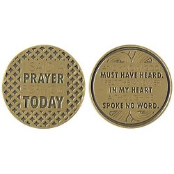 I Said A Prayer For You Today Gold Plated Pocket Coin
