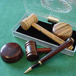 Handcrafted Wood Gavel Pen