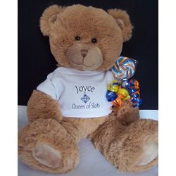 Personalized Queen of Slots Teddy Bear