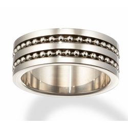 Men's Promise Ring in Stainless Steel