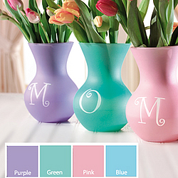 Personalized Initial or Name Pastel Sweetheart Vase