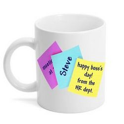 Bosses Day Sticky Note Gift Mug