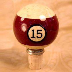 Vintage Pool Ball Wine Stopper