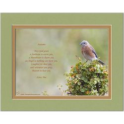 Family or Friend Poem Personalized Bluebird Print