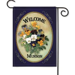 Personalized Pansy 2-Sided Garden Flag