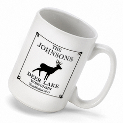 Personalized Vintage Stag Cabin Coffee Mug