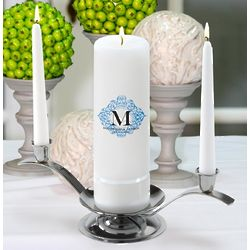 Personalized Fresh Floral Unity Candle Set