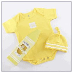 Crayonsies Two-Piece Baby Gift Set - Yellow