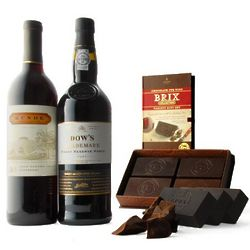 Brix Chocolate with Port and Zinfandel Wine Gift Set