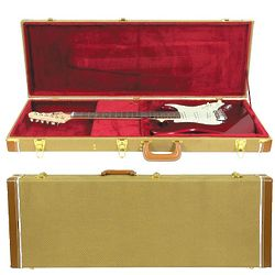 Musician's Gear Deluxe Electric Guitar Case in Tweed
