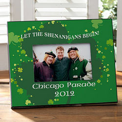 Personalized St. Patrick's Day Shenanigans Picture Frame