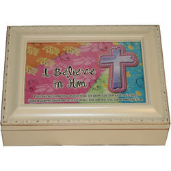 I Believe in Him John 3:16 Music Box