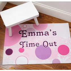 Personalized Time Out Floor Mat for Girls