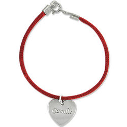 Custom Engraved Mother Bracelet with Silver Charm