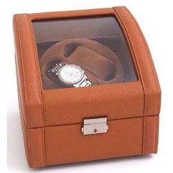 Tan Leather Two Watch Winder