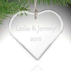 Personalized Glass Heart-Shaped Ornament