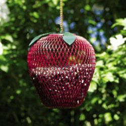 Mesh Apple with Leaves Birdfeeder
