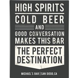 Personalized High Spirits Wall Art