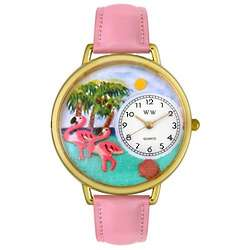Flamingo Watch with Miniatures