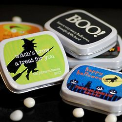 Personalized Halloween Mint Tins