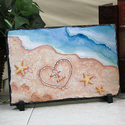 Personalized Shores of Love Stone