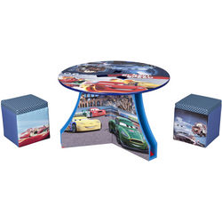 Disney Pixar Cars Table and Ottoman Set