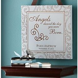 Angels Danced Personalized Baby Wall Plaque