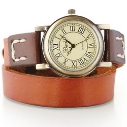 Leather Lariat Wrap Watch