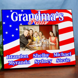American Pride Personalized Printed Picture Frame