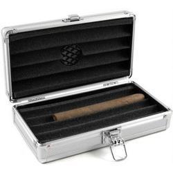 Aluminum 4 Count Cigar Travel Humidor
