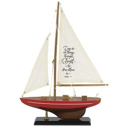 I Can Do All Things Wooden Sailboat