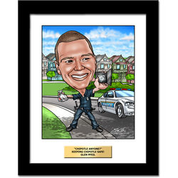 Police Officer Fully Custom Caricature