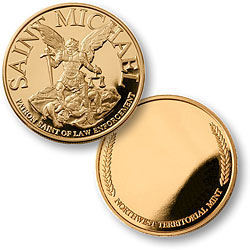 Personalized St. Michael Coin