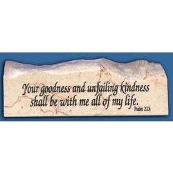 Psalm 23:6 Jerusalem Stone Paperweight