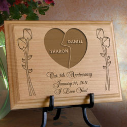 Personalized My Better Half Wooden Plaque