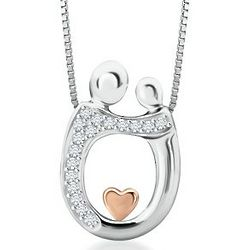 Mother & Child Diamond Pendant