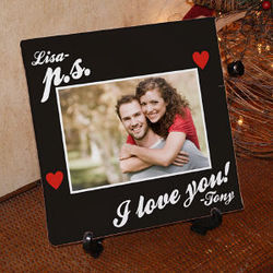 Personalized P.S. I Love You Canvas Wall Art