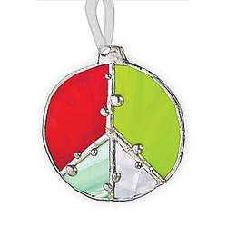 Holiday Peace Sign Ornament