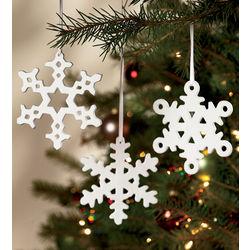 Porcelain Snowflake Ornaments