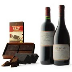 Brix Chocolate with Bordeaux and Pinot Wine Gift Set