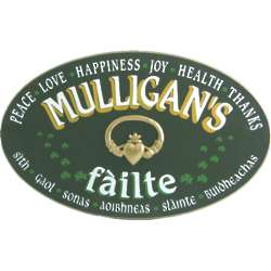 Personalized Failte Oval Sign