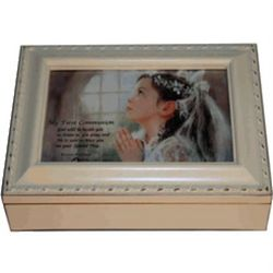 First Communion Music Box in Ivory